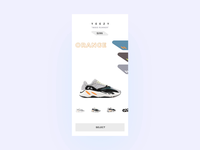 Trainer Transition Concept mp4 gif layout color mobile clean yeezy motion typography android ios app ui ux transitions checkout shopping ecommerce ae animation