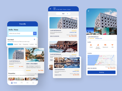 Hotel Booking App hotel hotel booking app daily 100 challenge dailyuichallenge ux dailyui icon vector ui branding dribbble illustration design
