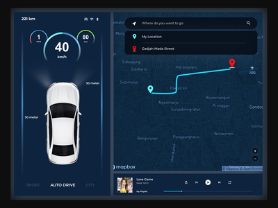 Daily UI#34 - Car Interface ui dribbble illustration design challenge uidesign design daily ui 34 car interface daily daily 100 challenge daily ui