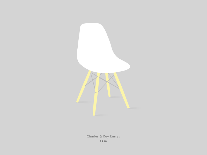 Eames chair eames illustration vector furniture design