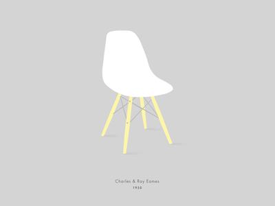 Eames chair eames illustration vector furniture design