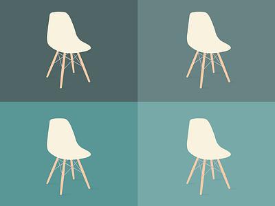 Eamesx4 chair eames illustration vector furniture design