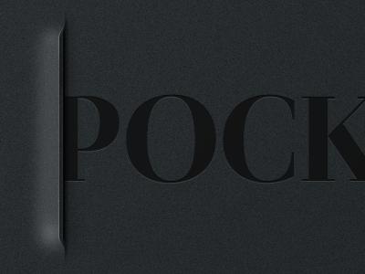 Pocket slit sleeve pocket ipad iphone app ui metal typography noise dark black thomas incision martin klausen