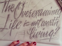 Initial sketch for lettering