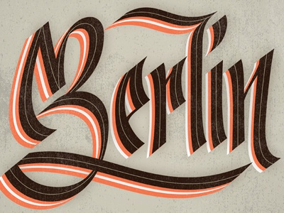 Berlin berlin city lettering type letter layers brown atmosphere germany rough calligraphic calligraphy