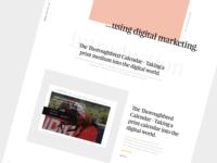 Agency Website Homepage