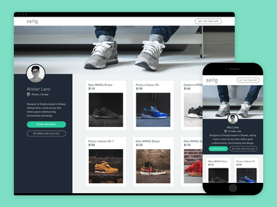 Sello Storefronts sneakers shopify sello products profile shop webstore storefront