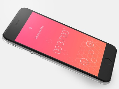 Timering App UI unique minimal clean colorful light timering interface app animation design ui