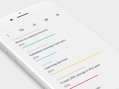 Purp - a smart to-do list and goal tracker app todo interface iphone ios application app purp design interaction ux ui ai