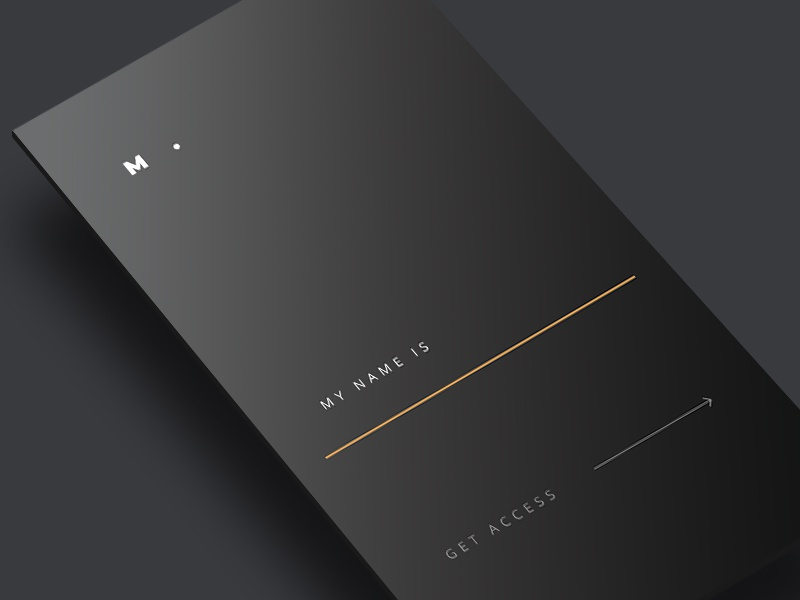 Get access minimal gold black user experience ux interface user interface ui