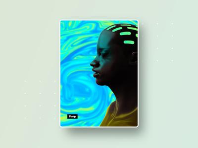 Purp visual poster interface brand idenity visual art 3d art illustration art design graphic