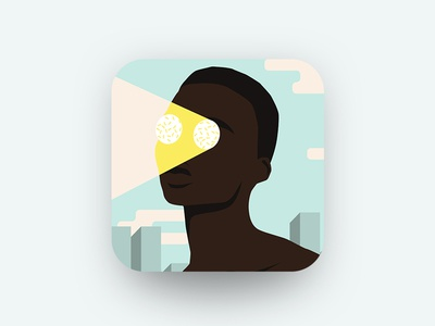 Future Glance vectorillustration uiux