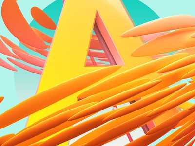 The A 3d c4d poster design poster color colorful abstract letter a graphic design typography 3d art illustration design