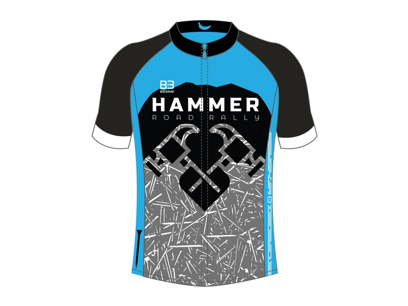 Hammer Road Rally Jersey jersey flat design cycling kit