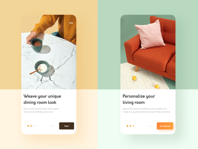 Furniture App • On Boarding onboarding furniture furniture app app minimal ux ui design