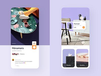Furniture App • Gallery & Product flat minimalist uiux product page ecommerce design ux ui minimal furniture app furniture app