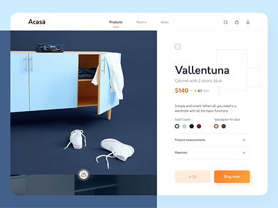 Furniture Website • Product Page furniture design website furniture website product page minimalist uiux ecommerce design ui ux minimal furniture