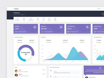 Lexa - Admin & Dashboard webapp dashboard admin web flat ux ui design