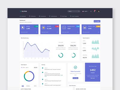 Veltrix - Admin & Dashboard design web admin dashboard webapp ui ux flat