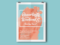 Opportunity Weekend Event Poster