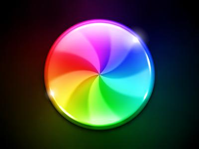 Busy icon mac spinner beachball sbod candy rainbow sparkles shiny colors gloss glossy