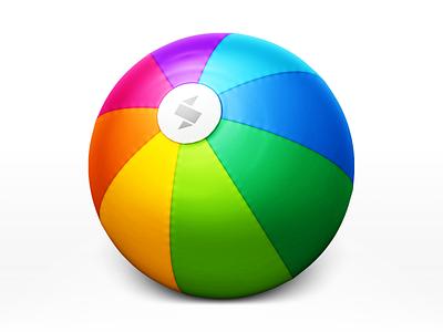 Skala skala rainbow beachball preview plastic fabric stitching logo icon