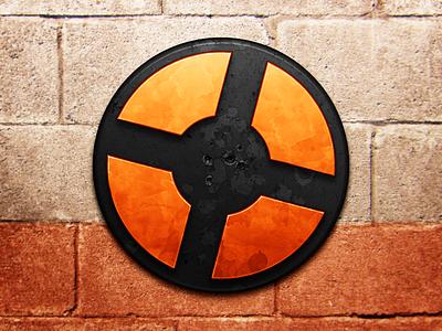 TF2 team fortress valve game shooter crosshairs bullet holes bricks icon mac