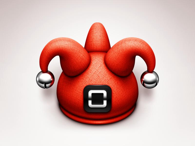 Mocks icon mac app hat jester metal shiny buckle fabric 3d bells