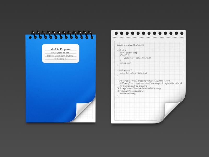 Programming Icons [1/2] file project folder binder haiku rings plastic shiny icon mac developer
