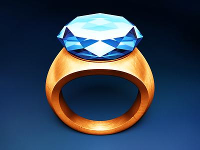 Schwartz diamond quartz ring app icon mac gem gold crystal scratches shiny