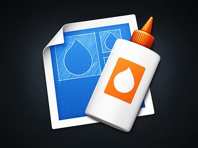 Icon Composer icon mac composer glue sticker plastic paper curl page blueprint