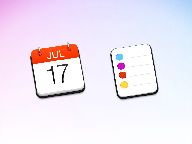 Calendar & Reminders yosemite ical todo metal pad list icons mac icon