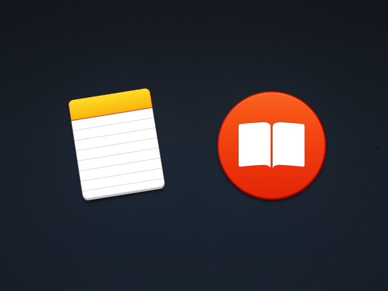 Notes & Books paper book icon el capitan note ibooks notepad yosemite icons mac
