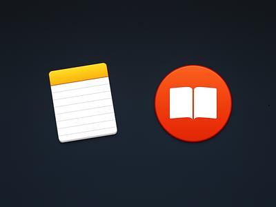 Notes & Books paper book icon el capitan note ibooks notepad yosemite icons mac