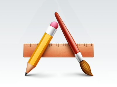 Applications applications icon mac lion brush pencil ruler