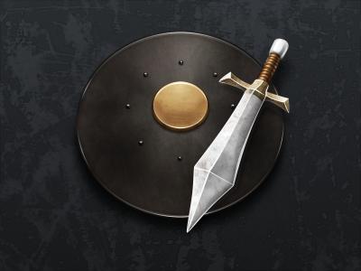 Warrior warrior icon sword shield metal fantasy game skyrim 512 mac