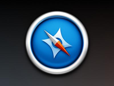 Minimal Safari Update icon mac safari web browser metal compass globe webkit chrome