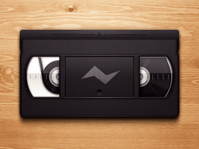 VHS Tape obsolete icon vhs cassette tape video plastic wood