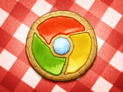 Browser Cookie google chrome cookie frosting icing meringue cream sugar want to eat it so much