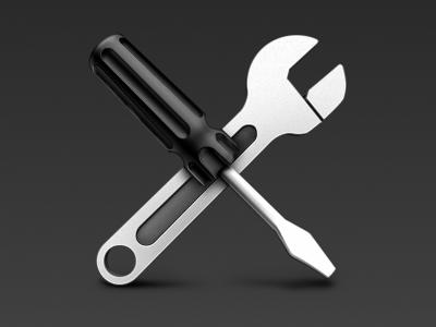 Utilities utilities icon mac wrench spanner screwdriver flathead metal