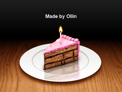 Website Launch! website launch cake candle icing filling cream plate wood