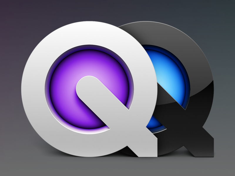 Quicktime Player video movie glow gloss matte glossy apple logo icon