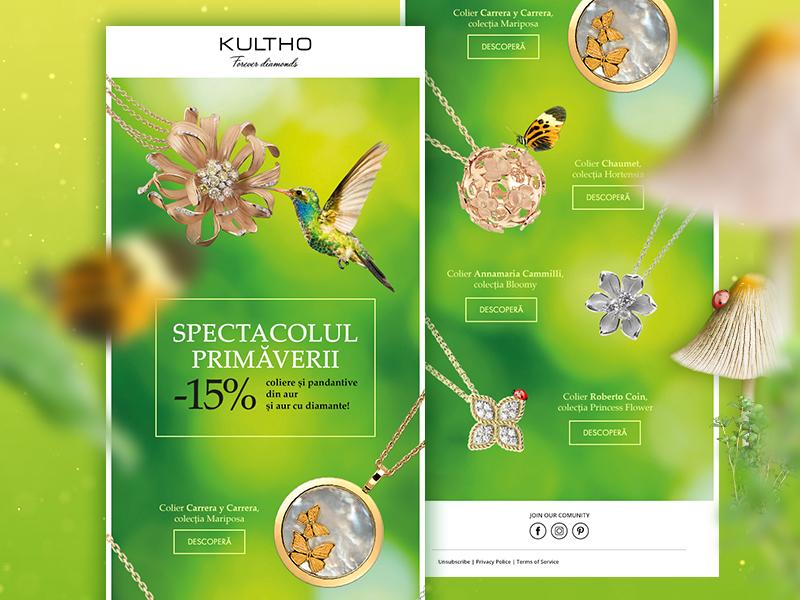 Newsletter Design - 1st shot on Dribbble web design graphic design photoshop ui spring jewelry newsletter