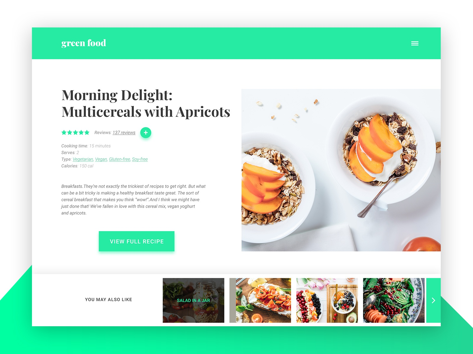 daily ui 40 recipe by monica monisse designs dribbble dribbble