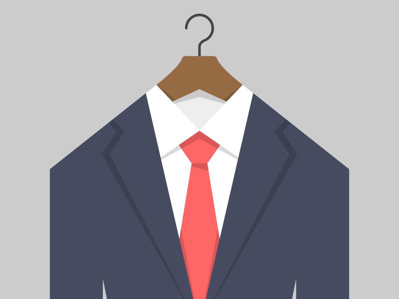 Suit And Tie suit tie hanger illustration jacket shirt windsor navy