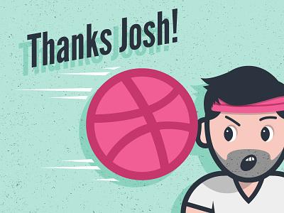 Thanks Josh! basketball face speed beard sweatband headband t-shirt debut