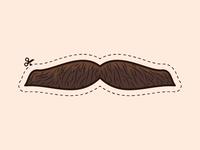 Cutout Mustache