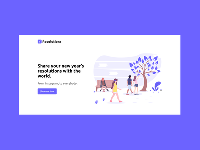 Resolutions - Landing Page hero section undraw illustration landing page resolutions