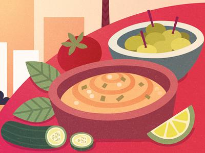Telaviv telaviv food vegan editorial illustration