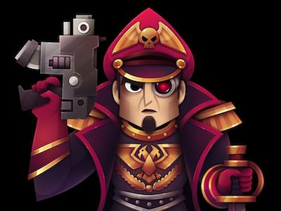 Commisar character commissar warhammer illustration